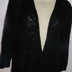 Women's Faded Glory 2X black sweater cover up